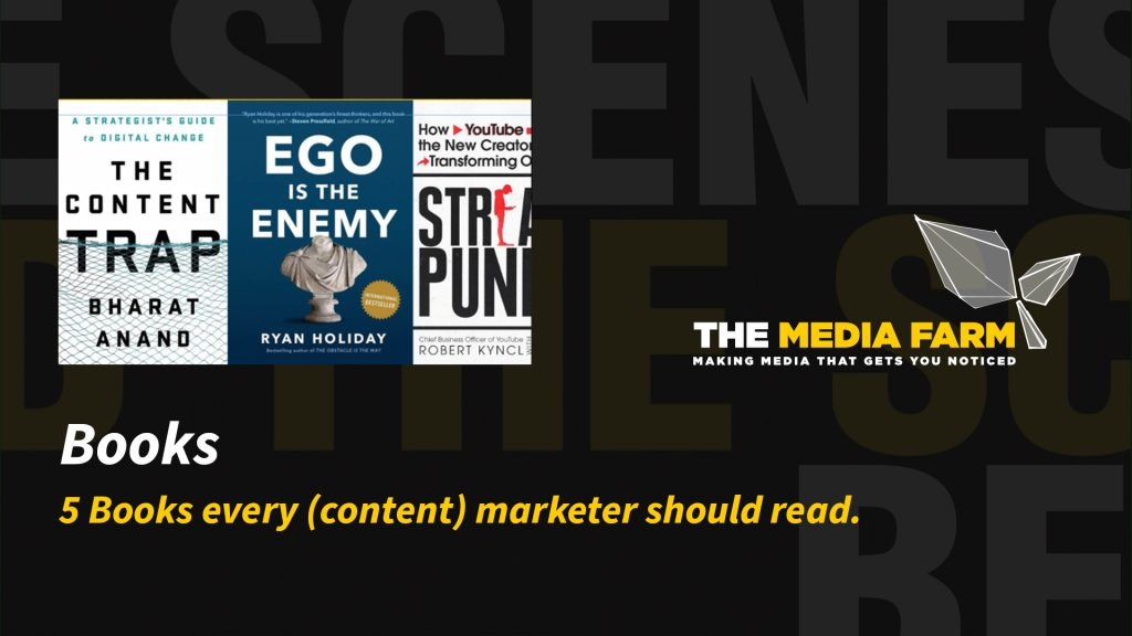 The Media Farm | 5 Books every (content) marketer should read.